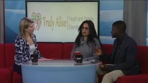 Nidhi Singh and Akingbehin Akinwande from the truly alive youth and family foundation