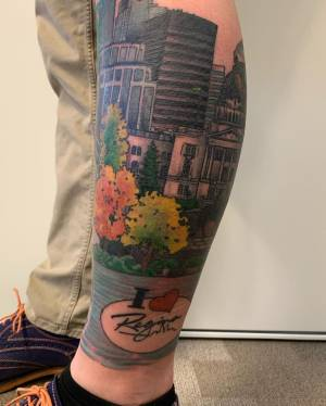 Mark Rathwell unveils viral Regina tattoo