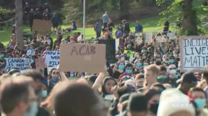 Thousands of people attend Edmonton anti-racism rally