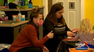 Calgary preschool says it's being treated unfairly when it comes to wage top-ups (02:32)