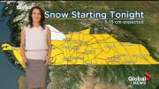 Play video: Snow, cold front expected to chill southern B.C.