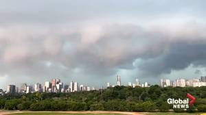 Timelapse video shows storm roll over downtown Toronto (00:41)