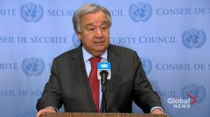 United Nations Secretary-General pleads for de-escalation of tensions between U.S., Iran (01:53)