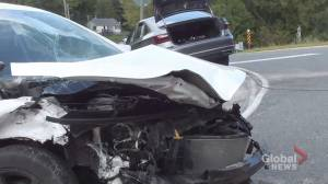 Two injured in head-on collision in Baltimore