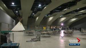 Temporary shelter at Edmonton Convention Centre to remain open through April (01:48)