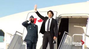 Trudeau departs Ottawa for G7 meeting in Cornwall, U.K. (00:44)