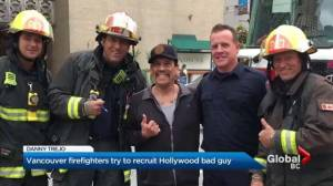 Vancouver firefighters meet actor Danny Trejo