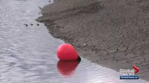 Dry Edmonton pond in Glastonbury community raises concerns