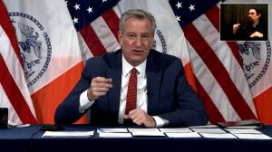 """NYC Mayor Bill de Blasio calls for Cuomo's resignation: """"He just can't serve as governor anymore"""" (01:27)"""