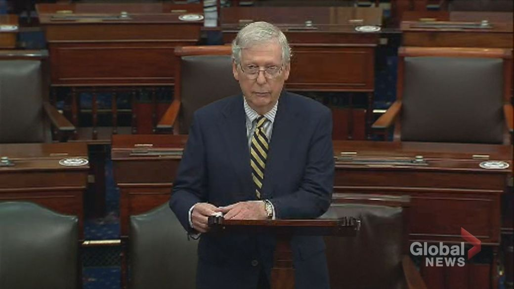 Click to play video 'Ruth Bader Ginsburg was 'a brilliant legal mind,' says Mitch McConnell'