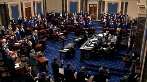 U.S. Senate sworn in ahead of Trump impeachment trial (01:29)
