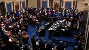 U.S. Senate sworn in ahead of Trump impeachment trial (01:15)