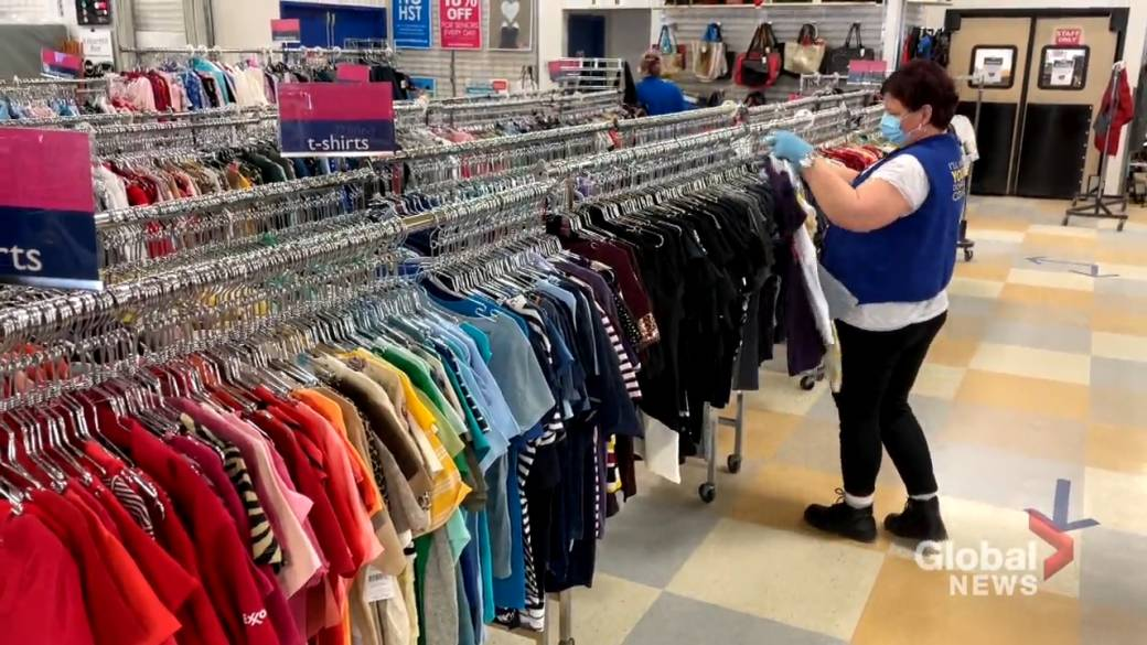 Click to play video 'Donations triple at Salvation Army thrift stores as people purge amid the pandemic'