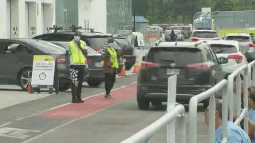 Montreal's Circuit Gilles Villeneuve vaccination site opens to motorists | Watch News Videos Online