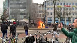 Coronavirus: Anti-lockdown riots in The Netherlands continue for 3rd night as PM condemns violence (03:59)