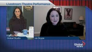 Live theatre is back at the Segal Centre (04:08)