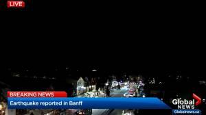 Earthquake hits Banff region: officials (01:36)