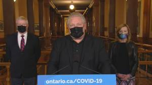 Coronavirus: Ford says province capable of administering 4.8 million vaccines monthly, asks for more supply (00:36)