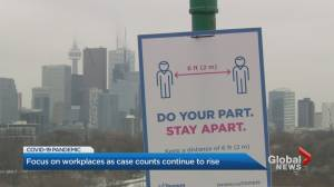 Toronto Public Health takes aim at workplace COVID-19 outbreaks (02:50)