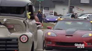 Sports cars line funeral procession as teen's last wish