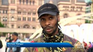 Evening vigil held outside Toronto city hall after anti-racism protests
