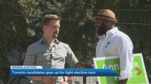 Toronto party leaders take to campaign trail after federal election called Sunday (03:13)
