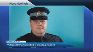 Police watchdog probing death of OPP officer on duty (04:52)