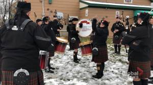 Pipers continue to honour the fallen by playing at Remembrance Day ceremonies across the country