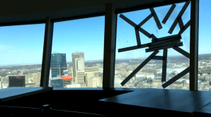 Damage on the 31st floor of Fort Garry Place