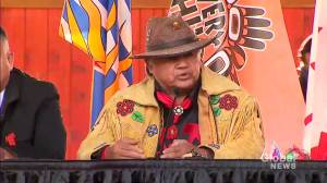 First Nations chief feels 'frustration and anger' amid Trudeau's visit to Kamloops, B.C. (02:43)