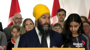2019 Federal Election: Singh says he 'believes' in protecting Quebec identity (00:35)
