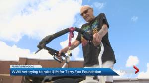Second World War vet trying to raise $1M for Terry Fox Foundation
