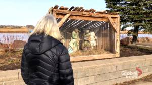 Riverview's stolen baby Jesus is recovered beyond repair (01:49)
