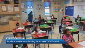 Province unveils $500 million funding for schools' COVID-19 costs (03:58)