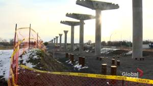 Construction continues on future West Island REM stations without parking plan (02:05)