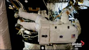 Astronauts attach second docking port, work on robotic arm at ISS
