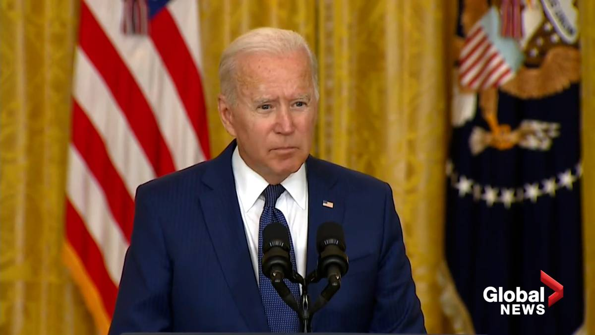 Click to play video: 'Afghanistan crisis: Biden says he would grant U.S. military additional troops if requested following attack at Kabul airport'