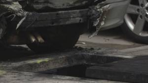 Investigation into underground explosion under Granville Bridge linked to electrical fault (01:19)