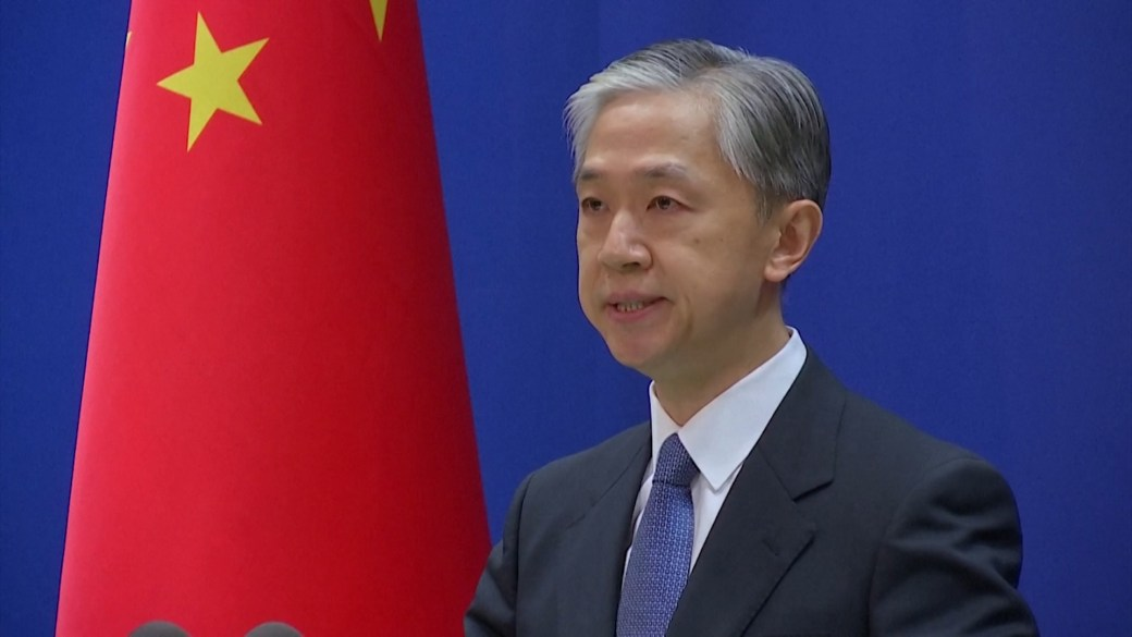 Click to play video: 'China's foreign ministry firmly denies Wuhan lab linked to COVID-19 outbreak'