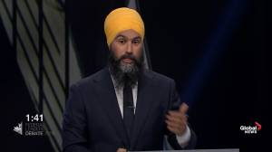 Leaders' Debate: Singh refers to Trudeau, Scheer as 'Mr. Delay, and Mr. Deny' when it comes to climate change