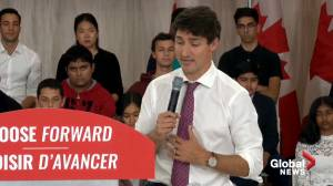 Federal Election 2019: Trudeau addresses blackface photo controversy during townhall