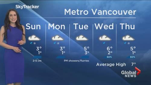 B.C. evening weather forecast: January 23 | Watch News Videos Online