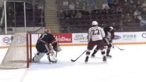 Petes' forward Mason McTavish keeping hockey skills sharp in Switzerland (02:34)