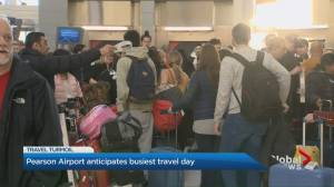Holiday travel crunch at Toronto's Pearson airport