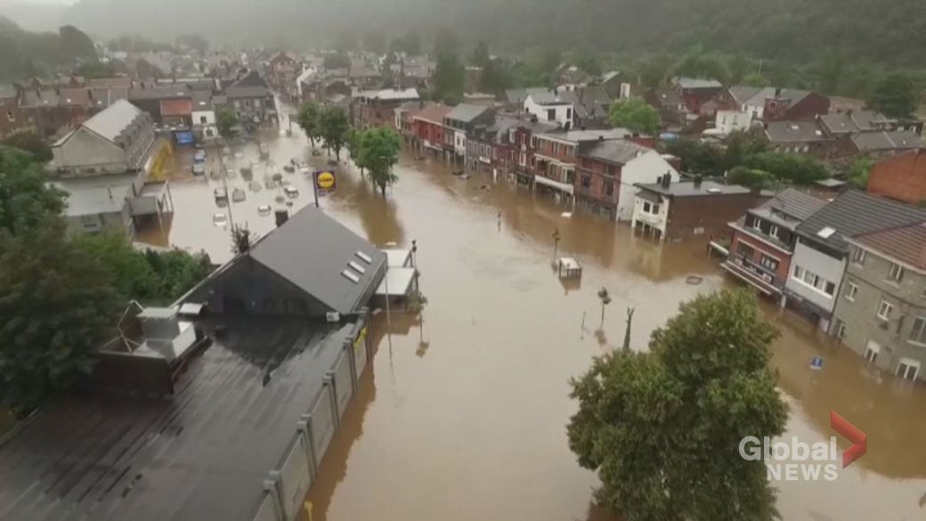 Click to play video: 'Dozens dead, many more missing amid heavy flooding in western Europe'