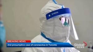 Coronavirus outbreak: Second 'presumptive' case of virus reported in Toronto
