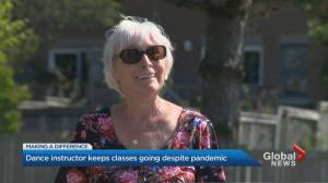 COVID-19 pandemic doesn't stop 79-year-old line dance teacher (02:48)