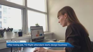 How a flight attendant rerouted her career after losing her job in the pandemic (03:57)