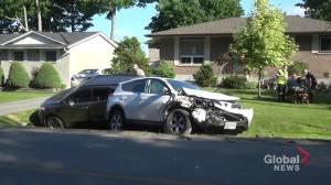 Multi-vehicle collision north of Peterborough