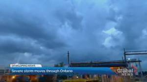 Parts of Ontario see severe storms, damaging winds (01:12)